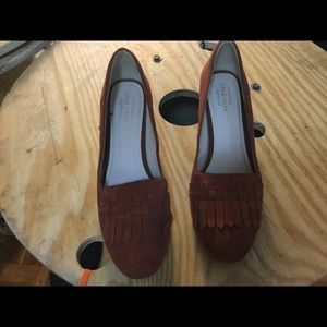 Cole Haan suede shoes classic rust
